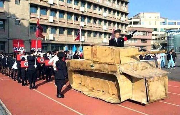 Tajwan: uczniowie paradowali w strojach nazistów. Dyrektor szkoły ustąpił ze stanowiska