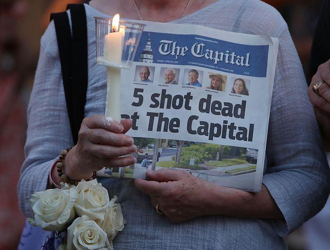 """Policja opublikowała fragmenty listu, który wysłał do redakcji """"Capital Gazette"""" sprawca masakry Jarrod Ramos"""