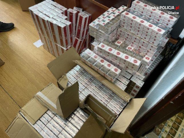 Gliwice. Tysiące sztuk nielegalnych papierosów przechwycili gliwiccy policjanci.