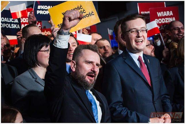Konfederacja. Na zdjęciu Piotr Liroy-Marzec i Robert Winnicki.