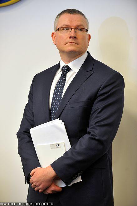 Jacek Lipski na konferencji prasowej w 2016 roku