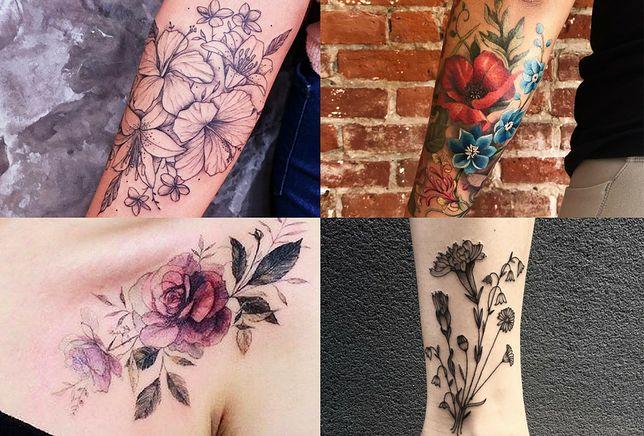Najmodniejsze kwiatowe tatuaże