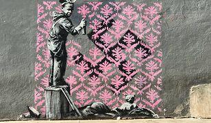 Banksy w Paryżu. Zrobił polityczne murale