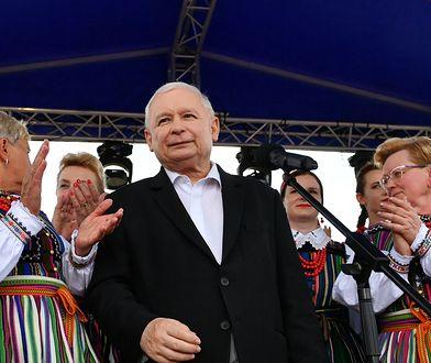Jarosław Kaczyński na pikniku rodzinnym w Miedznie Murowanej.