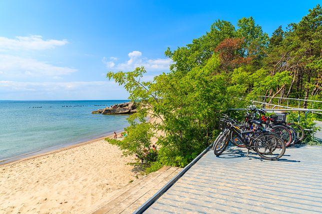 Nadbałtycka plaża w Helu