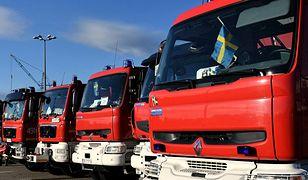 Rekordowa pomoc strażaków w Szwecji
