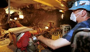 Praca w kopalni miedzi w Polsce