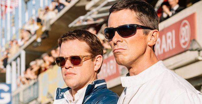 "Matt Damon i Christian Bale w filmie ""Ford vs Ferrari"""