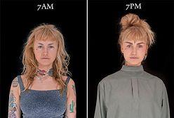 Fotografowała ludzi o 7 rano i 7 wieczorem. Niektóre zmiany są zaskakujące