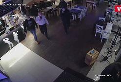 Bezwzględne zachowanie policji w restauracji. Wszystko nagrały kamery