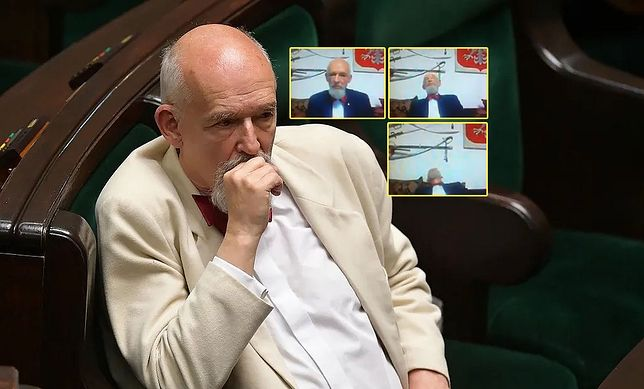 Janusz Korwin-Mikke dziwnie zachował się na wizji