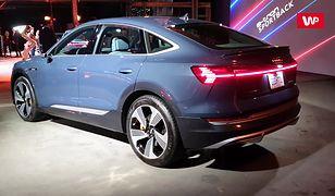 Audi E-tron Sportback z bliska. Nowy elektryczny SUV z Niemiec