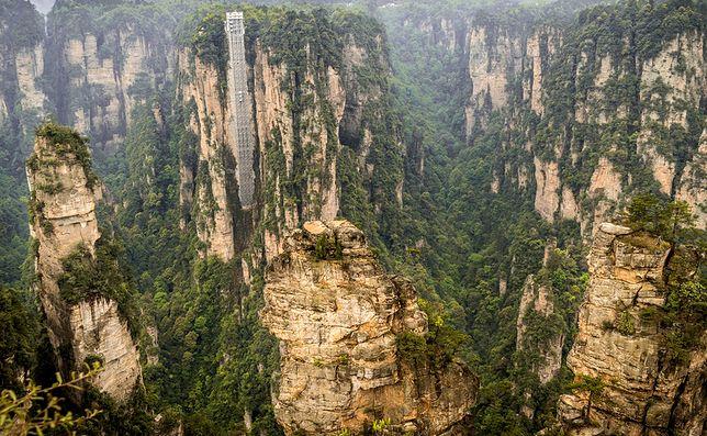 Winda Bailong, Park Narodowy Zhangjiajie, Chiny