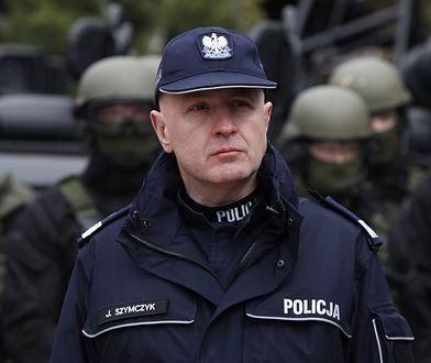 Nieoficjalnie mówi się, że szef polskiej policji Jarosław Szymczyk przeniesie się do USA