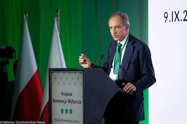 Władysław Teofil Bartoszewski podczas konwencji samorządowej PSL