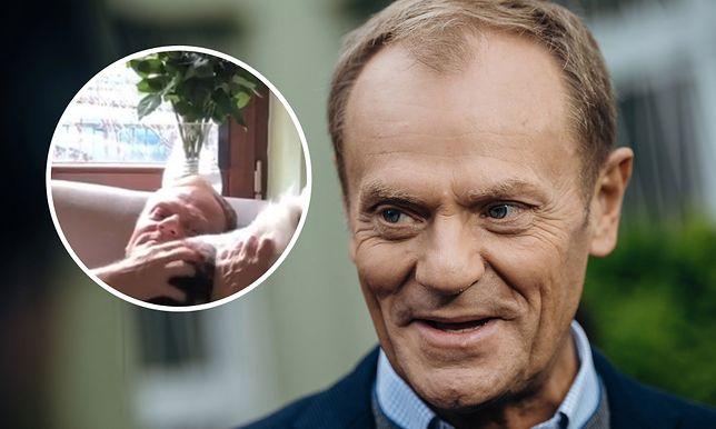 Donald Tusk podbija sieć nagraniem z psem. Takiego byłego premiera jeszcze nie widzieliśmy