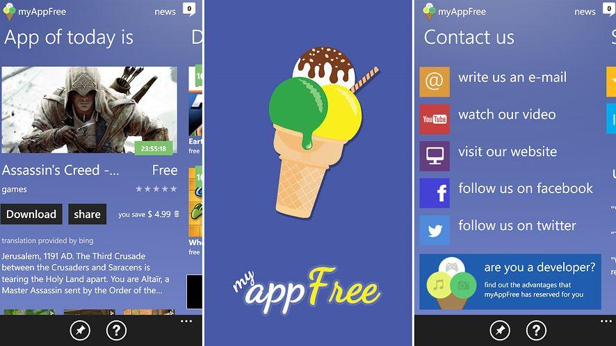 myAppFree — codzienne darmowa aplikacja na Windows Phone
