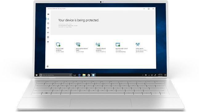 Windows Defender, domyślny antywirus w Windows 10, fot. Microsoft