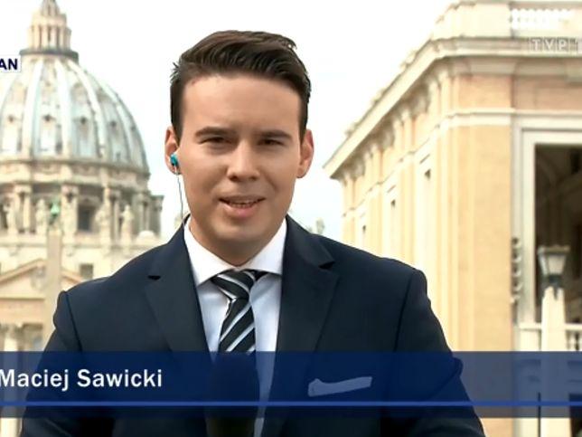 """Maciej Sawicki, reporter """"Wiadomości"""" TVP"""
