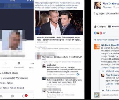 Ciąg dalszy afery z homofobicznymi komentarzami. Za co Facebook zablokował reportera WP?