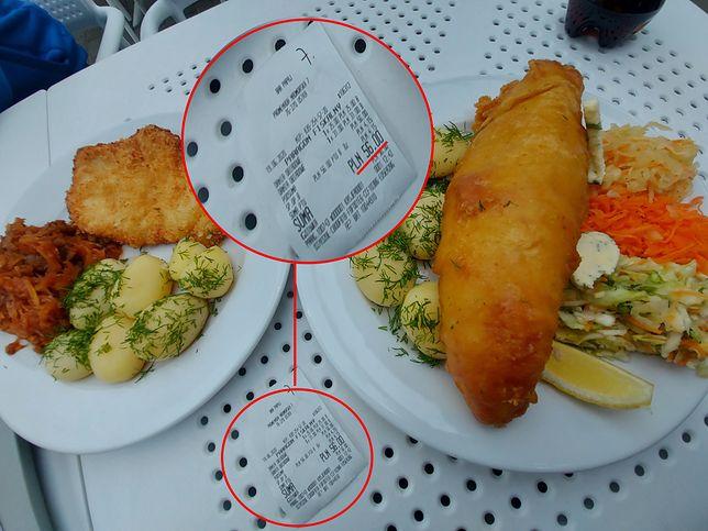Ten obiad kosztował panią Małgosię 56 złotych.