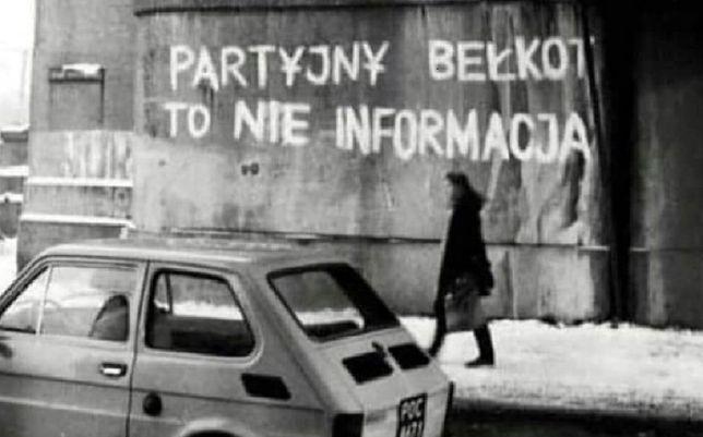 Media bez wyboru. W Poznaniu wrócił napis ze stanu wojennego