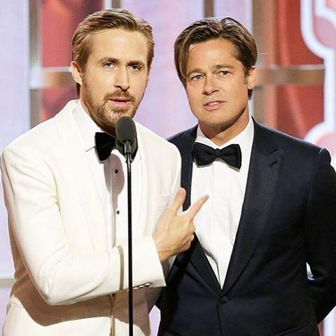 Brad Pitt na gali wręczenia Złotych Globów