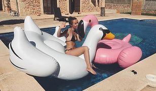 Olga Frycz szaleje na basenie w skąpym bikini. Pokazała zabawne wideo