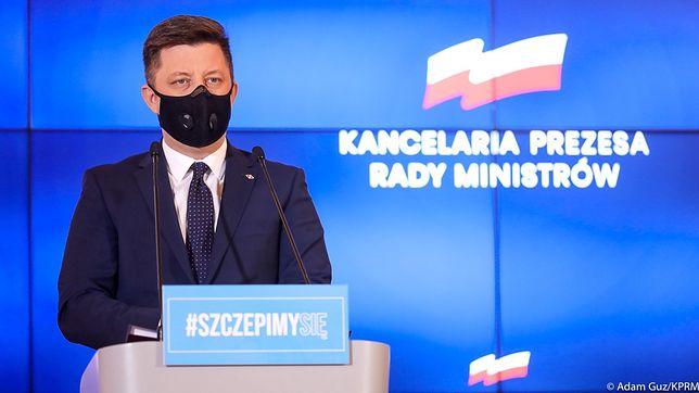 Szczepionka na COVID. Szef Kancelarii Premiera Michał Dworczyk przekazał decyzję Mateusza Morawieckiego