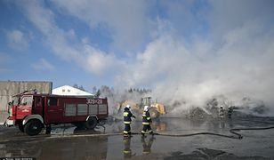 Podlasie. Kolejny pożar sortowni odpadów w Studziankach koło Białegostoku