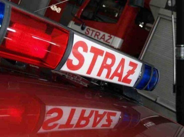 Pożar przy moście Śląsko-Dąbrowskim