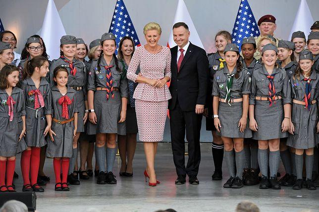Prezydent Andrzej Duda i pierwsza dama Agata Kornhauser-Duda w New Britain.