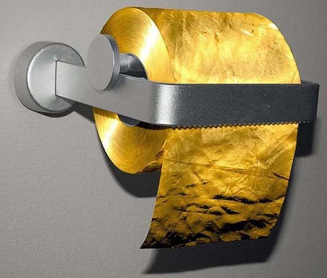 Papier toaletowy ze złota