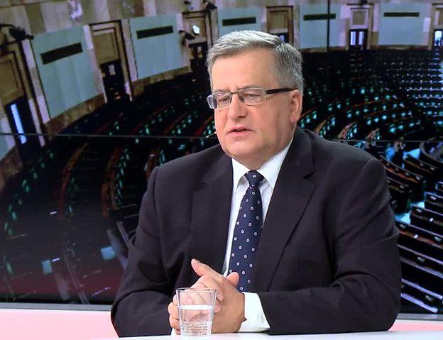 Bronisław Komorowski ocenia 100 dni rządu PiS: zdecydowanie złe dla Polski