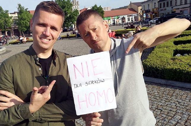 Serki HOMO ukrytą propagandą LGBT? Para gejów strollowała mieszkańców Łowicza
