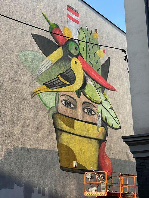 W Katowicach powstał mural o ekologicznym przesłaniu.