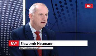 """Sławomir Neumann odpiera atak Tarczyńskiego. """"Wychodzi jakiś ratlerek…"""""""