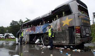 Polski autokar po wypadku