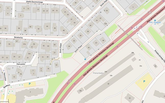 Sikorskiego na OpenStreetMap