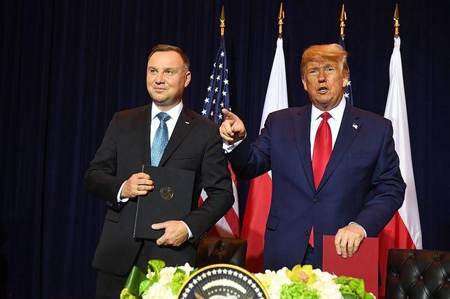 Prezydent Stanów Zjednoczonych Ameryki Donald Trump oraz Prezydent RP Andrzej Duda