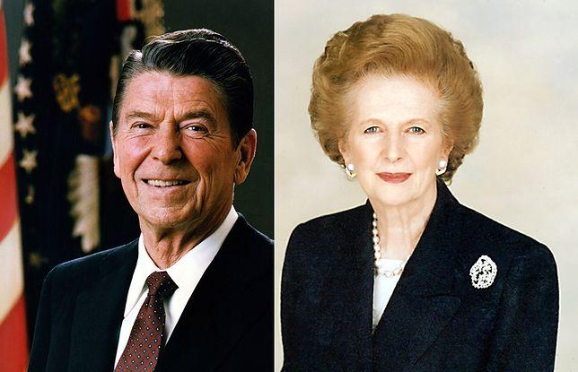 Nowi patroni: Margaret Thatcher, Ronald Reagan