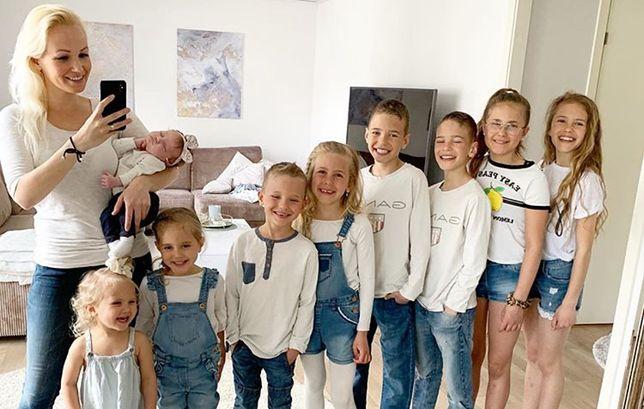 Blogerka jest mamą dziewięciorga dzieci