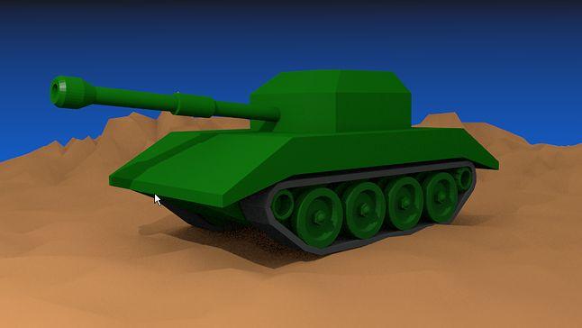 Czołg wyrenderowany