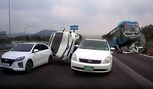 Koszmarny karambol w Korei uchwycony kamerą