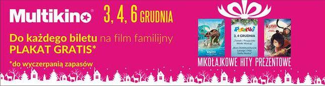 Filmowe Mikołajki w kinach sieci Multikino
