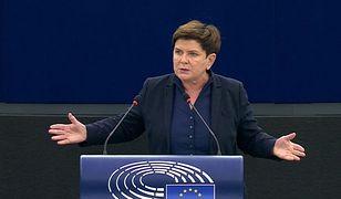 Beata Szydło w PE: Nie wypchniecie Polski z Unii Europejskiej