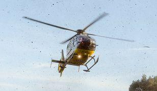 Wypadek na A1. Lądował śmigłowiec LPR