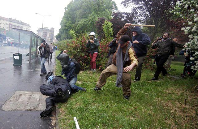 Anarchiści starli się z policją