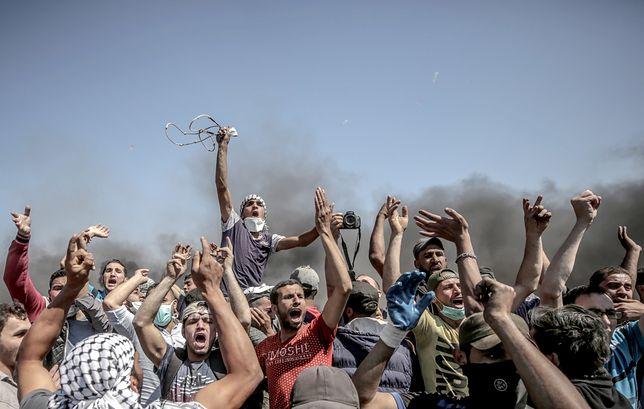 Krwawe protesty w Strefie Gazy