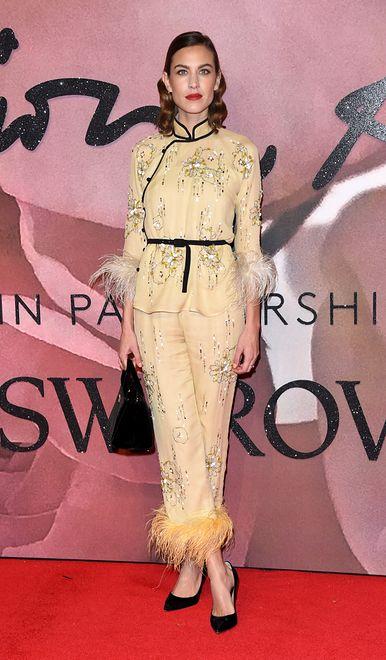 Alexa Chung na gali British Fashion Awards 2016